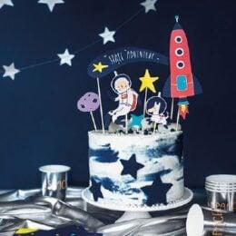 Topper τούρτας Διάστημα (7 τεμ)