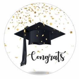 Αυτοκόλλητα Αποφοίτησης Congrats 7-15cm