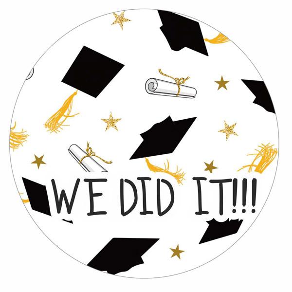 Αυτοκόλλητα Αποφοίτησης We Did It 7-15cm