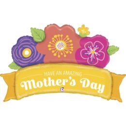 Μπαλόνι Amazing Mother's Day λουλούδια 114cm