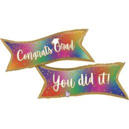 """Μπαλόνι Banner Αποφοίτησης """"You Did It"""""""