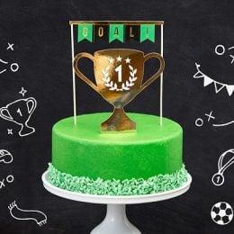 Topper τούρτας Ποδόσφαιρο (2 τεμ)