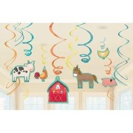 Διακοσμητικά Οροφής Swirls Ζώα της Φάρμας (12 τεμ)