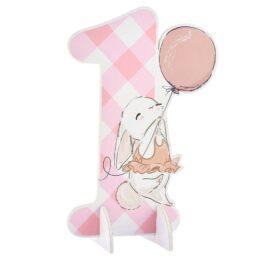 Επιτραπέζιο διακοσμητικό 1st Birthday Κουνελάκι