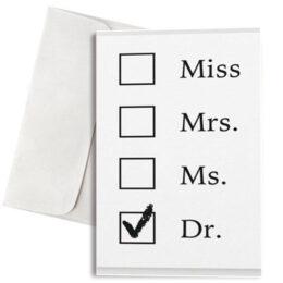 """Κάρτα Αποφοίτησης για γιατρό """"Dr"""""""