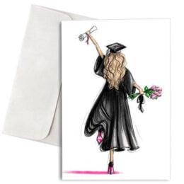 """Κάρτα Αποφοίτησης """"Girl Graduating"""""""
