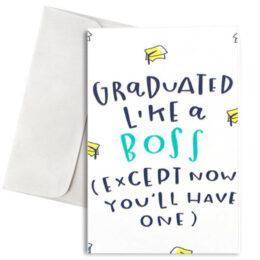 """Κάρτα Αποφοίτησης """"Graduated Like A Boss"""""""