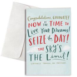 """Κάρτα Αποφοίτησης """"Seize the Day"""""""