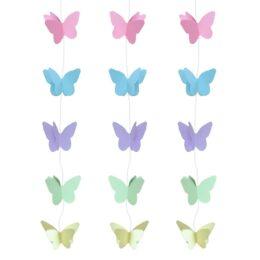 """Κρεμαστά χάρτινα Διακοσμητικά """"Πεταλούδες"""" 200cm"""