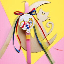 Λαμπάδα Sailor Moon - Ξύλινο Κάδρο