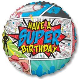 Μπαλόνι Comic Super Birthday