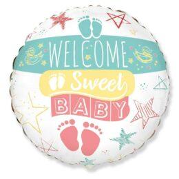 Μπαλόνι γέννησης Welcome Sweet Baby