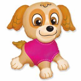 Μπαλόνι Κουταβάκι με ροζ μπλουζάκι