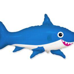 Μπαλόνι Μπλε Καρχαρίας χαμογελαστός