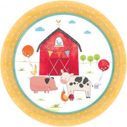 Πιάτα φαγητού Ζώα της Φάρμας (8 τεμ)