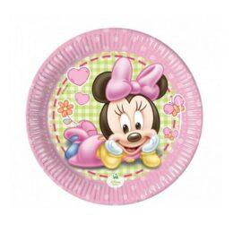 Πιάτα γλυκού Baby Minnie (8 τεμ)