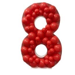 Πλαίσιο μπαλονιών Αριθμός 8