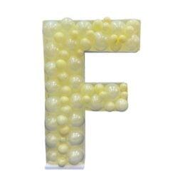 Πλαίσιο μπαλονιών Γράμμα F