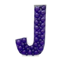 Πλαίσιο μπαλονιών Γράμμα J