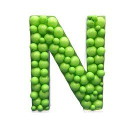 Πλαίσιο μπαλονιών Γράμμα N