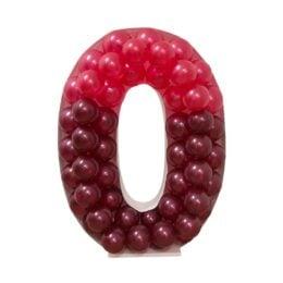 Πλαίσιο μπαλονιών Γράμμα O