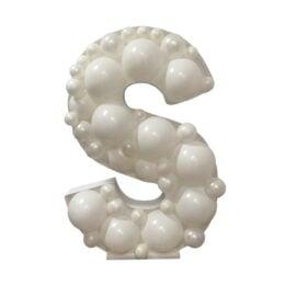 Πλαίσιο μπαλονιών Γράμμα S