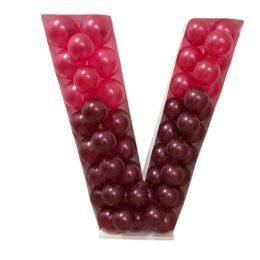 Πλαίσιο μπαλονιών Γράμμα V