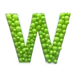 Πλαίσιο μπαλονιών Γράμμα W