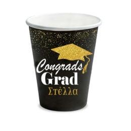 """Ποτήρια Αποφοίτησης """"Congratulations"""" (6 τεμ)"""