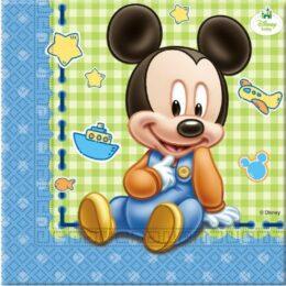 Χαρτοπετσέτες Baby Mickey Mouse (20 τεμ)