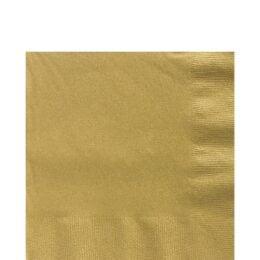 Χαρτοπετσέτες μικρές χρυσές (20 τεμ)