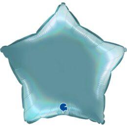Μπαλόνι Αστέρι Γαλάζιο Holographic 18''