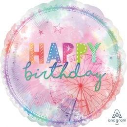 Μπαλόνι Happy Birthday ροζ Girl-Chella