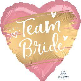Μπαλόνι Καρδιά Team Bride σατέν