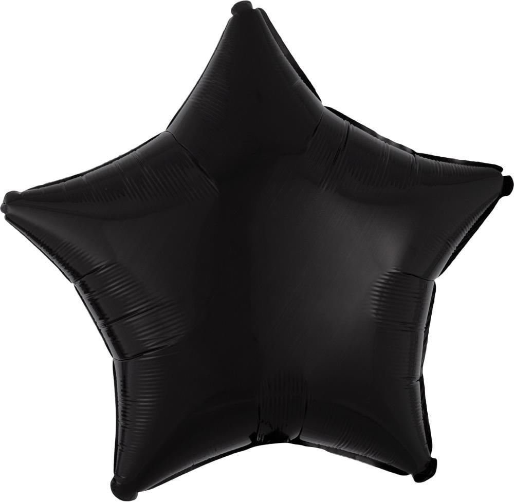 """Μπαλόνι ματ μαύρο αστέρι 18"""""""