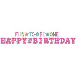 Μπάνερ Fun to be One 1st Birthday Girl