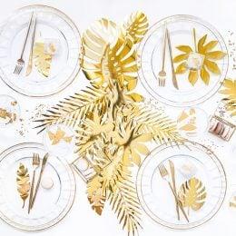 Διακοσμητικά χρυσά Τροπικά Φύλλα (21 τεμ)