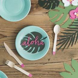 Διακοσμητικά Τροπικά φύλλα Aloha (6 τεμ)