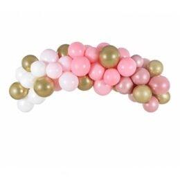 DIY Γιρλάντα με Μπαλόνια Ροζ-Χρυσό 200cm