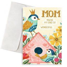 Ευχετήρια Κάρτα για τη μαμά Παραδείσια Πουλιά