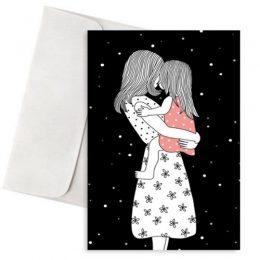 """Ευχετήρια Κάρτα Μαμά & Κόρη """"Love you to the Stars"""""""