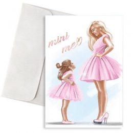 """Ευχετήρια Κάρτα Μαμά & Κόρη """"Mini Me"""""""