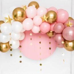 Γιρλάντα με Μπαλόνια Ροζ-Χρυσό Baby SHower