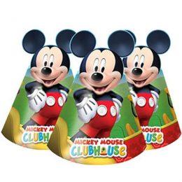 Καπελάκια Playful Mickey με αυτάκια (6 τεμ)