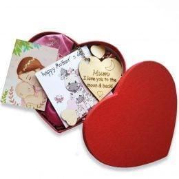Κουτί καρδιά με δωράκια για τη Γιορτή της Μητέρας