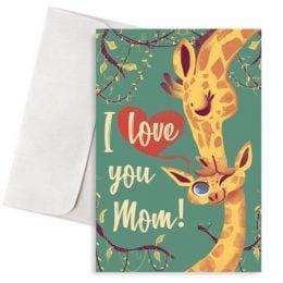 """Κάρτα για τη μαμά """"Καμηλοπαρδάλεις"""""""