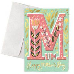 """Κάρτα Γιορτή Μητέρας """"Happy Mother's Day Gold Details"""""""