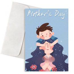 """Κάρτα Γιορτή Μητέρας """"Μαμά και Γιος"""""""