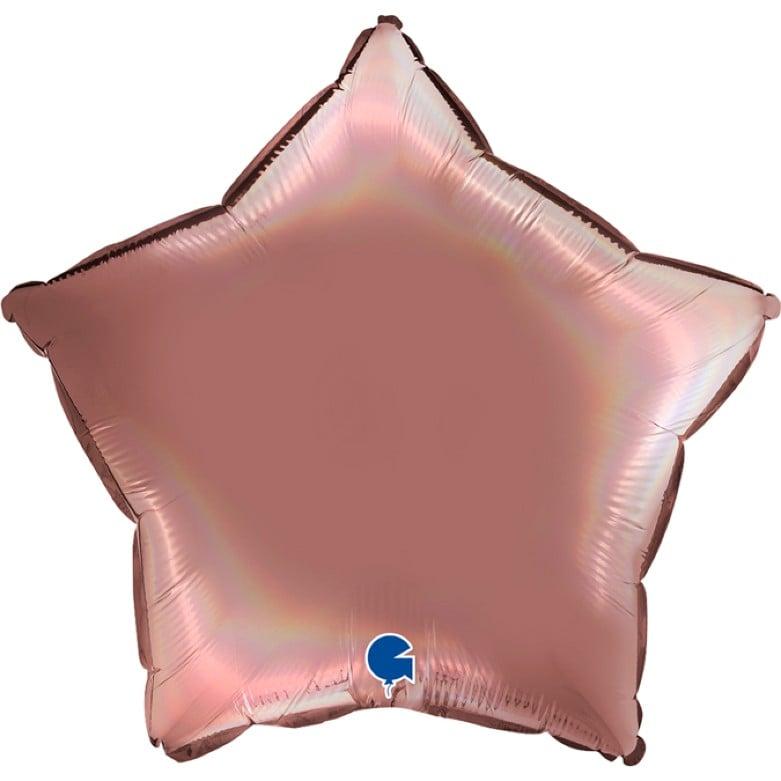 Μπαλόνι Αστέρι Ροζέ Holographic 18''