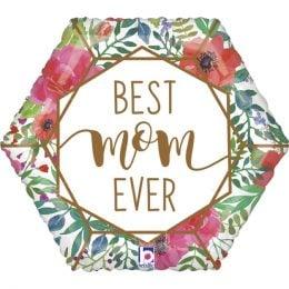 Μπαλόνι Best Mom Ever Πολύγωνο